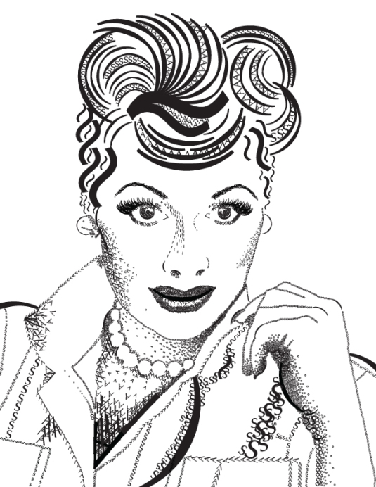 Lucille Ball by Anna Zollicoffer