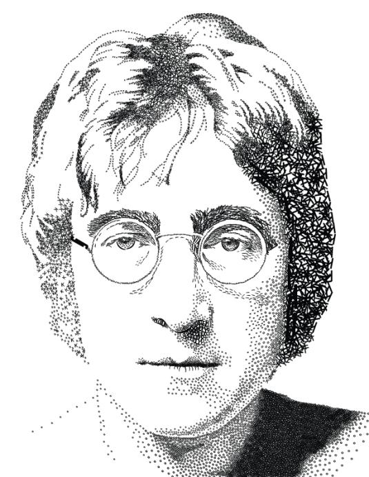 John Lennon by Erin Frazier