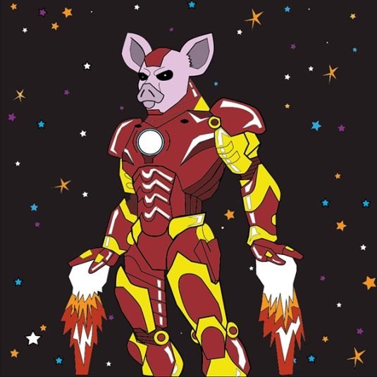 When Pigs Fly (referencing Iron Man) by Tré Braswell